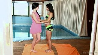 Ria Rodriguez&Sandra Luber in Fucking After a Swim HD From Fame Digital Daring Sex